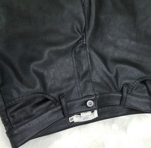 H&M Pants - Black Faux Leather High Quality Style Pants H&M 6